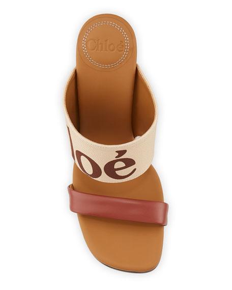Chloe Verena Logo Wedge Slide Sandals