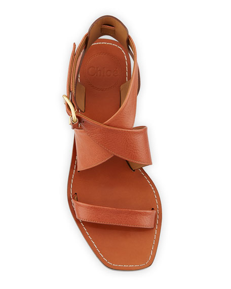 Chloe Virginia Strappy Leather Block-Heel Sandals