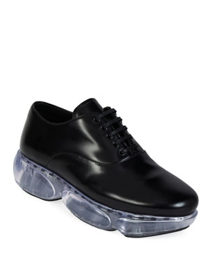 0ebd745bfac Prada Leather Sport Lace-Up Dress Shoes