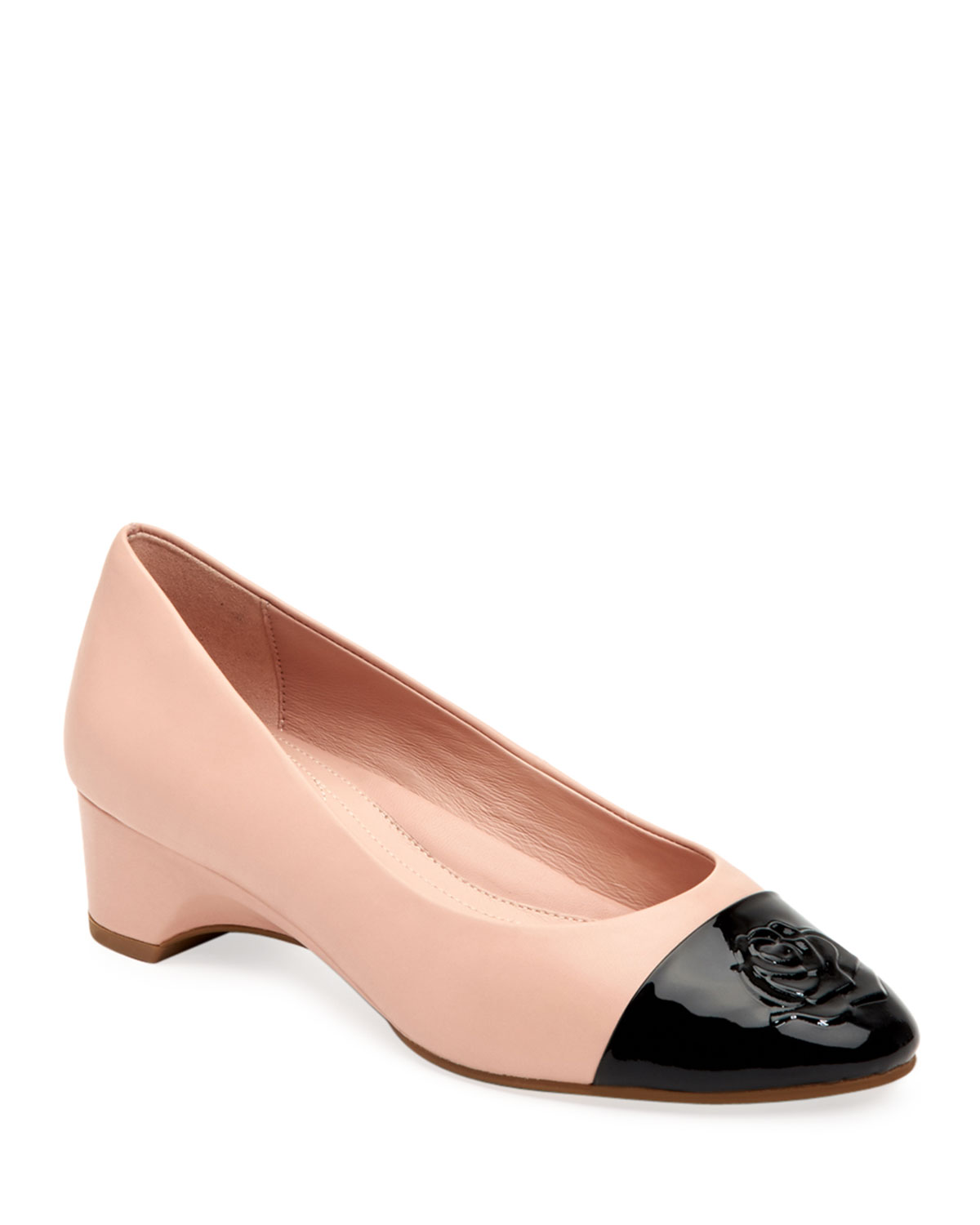 e20e91c67f Taryn Rose Babe Patent-Capped Leather Ballet Pumps | Neiman Marcus