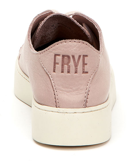 Frye Lena Leather Lace-Up Sneakers