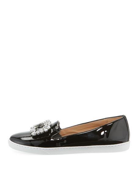 Sesto Meucci Frieda Ornamented Patent Sneakers, Black