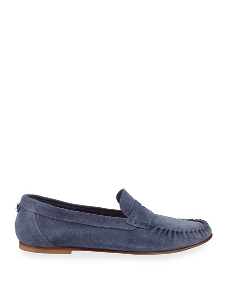 Aquatalia Lesley Suede Penny Loafers
