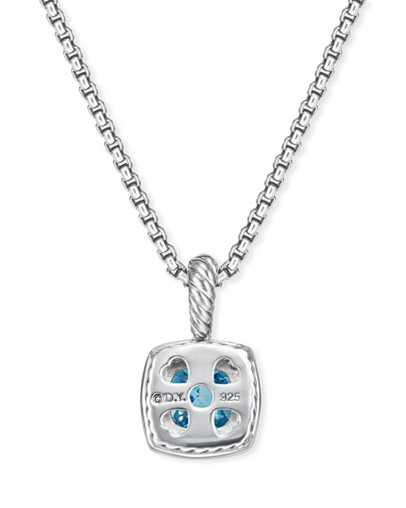 Petite Albion Pendant with Citrine and Diamonds on Chain