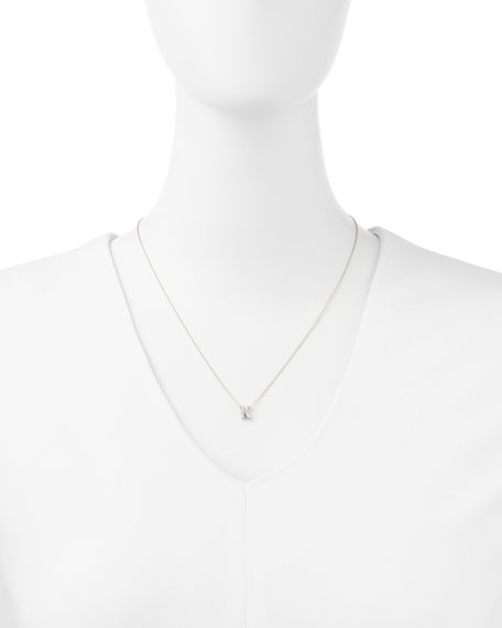 WG DIAM LOVE LETTER NECKLACE