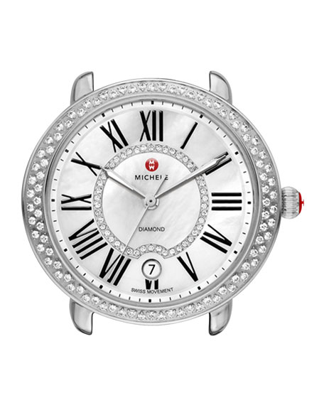 MICHELE16mm Serein Diamond Watch Head, Steel