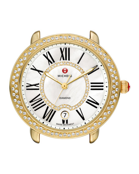 MICHELE Serein Golden Diamond Watch Head & 16mm