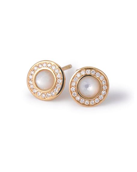 18k Gold Lollipop Mini Stud Earrings