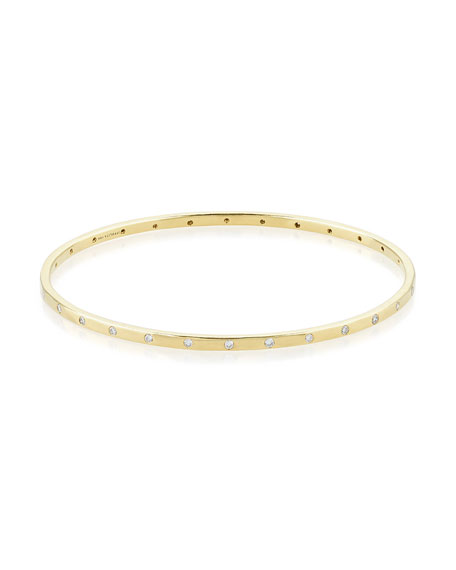Ippolita 18K Gold Senso™ Thin 28-Stone Bangle with Diamonds (.68ctw)