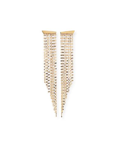 14k Gold Elite Fringe Duster Earrings