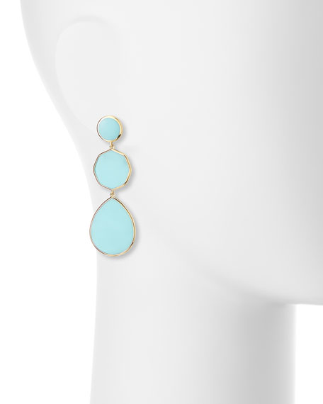 Ippolita 18k Gelato Crazy-Eight Earrings in Turquoise