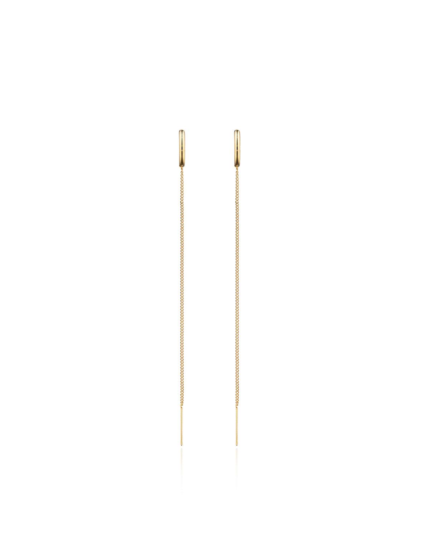 Vita Fede Luna Chain Thread Drop Earrings R3OjL