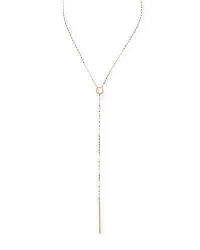 Bond 14K Long Circle Lariat Necklace