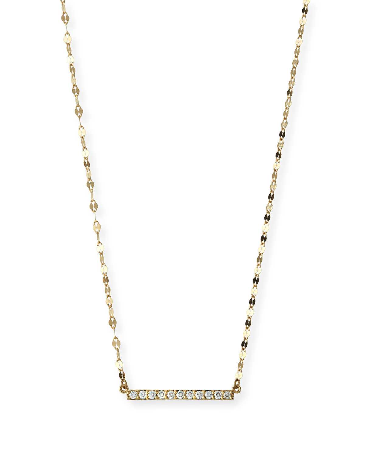 Lana Jewelry Mirage Blake Diamond Bar Necklace
