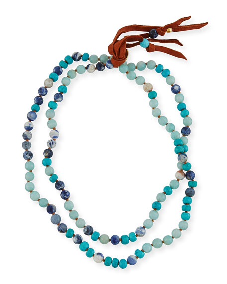 Image 1 of 2: Beaded Tassel Necklace, 38""