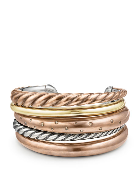 David Yurman Pure Form Five Row Bracelet With Cognac