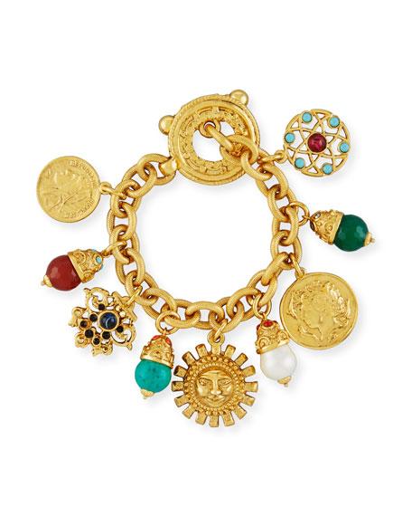 Jose & Maria Barrera Sun Coin Charm Bracelet