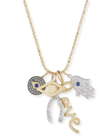 Sydney Evan Love, Luck & Protection Charm Necklace