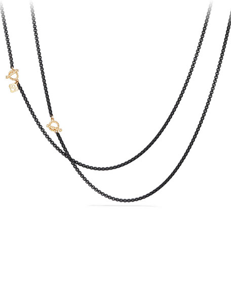 David Yurman Bel-Aire Adjustable Enamel Chain Necklace, 41