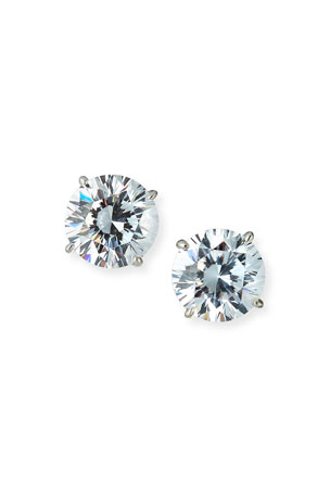 Fantasia by DeSerio 14kt Yellow Gold CZ Stud Earrings, 5 tcw