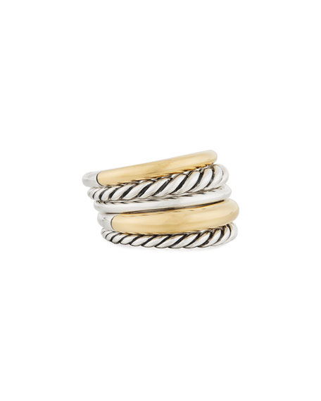 David Yurman Pure Form Wide Ring w/ 18k Gold