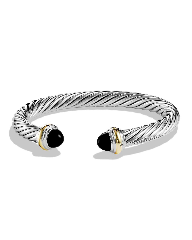 d42b45666e424 David Yurman Cable Classic Bracelet w  Stone Ends