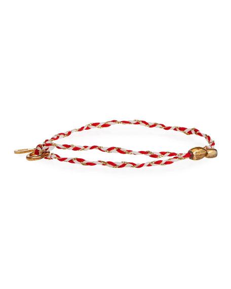 Alex and Ani Precious Threads Jasper Braid Bracelet, Red/Gold
