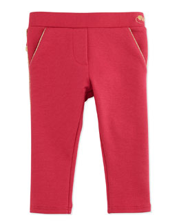 Little Marc Jacobs Milano Ruffle-Trim Pants, Red, 2T-3T