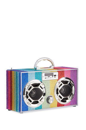 Wireless Express Rainbow Bling Bluetooth Boombox