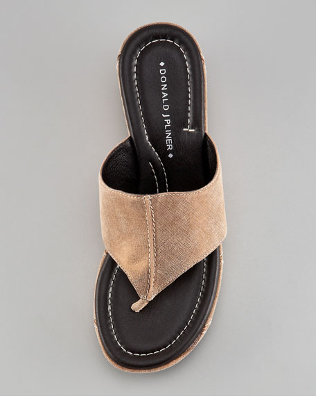 Topstitch Leather Wedge