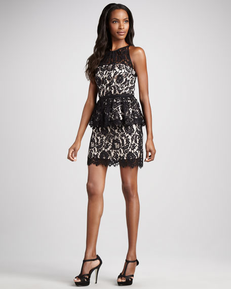 Liza Lace Peplum Dress
