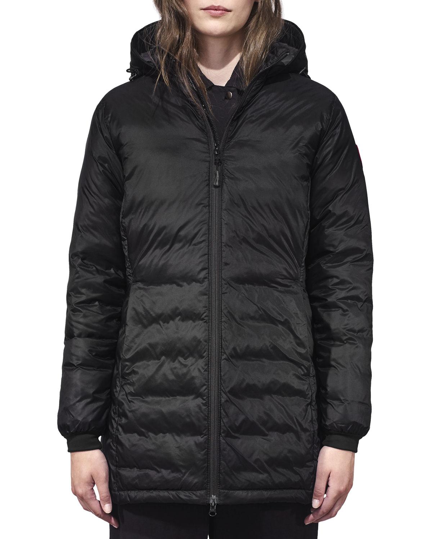 canada goose camp hooded mid length puffer coat neiman marcus rh neimanmarcus com
