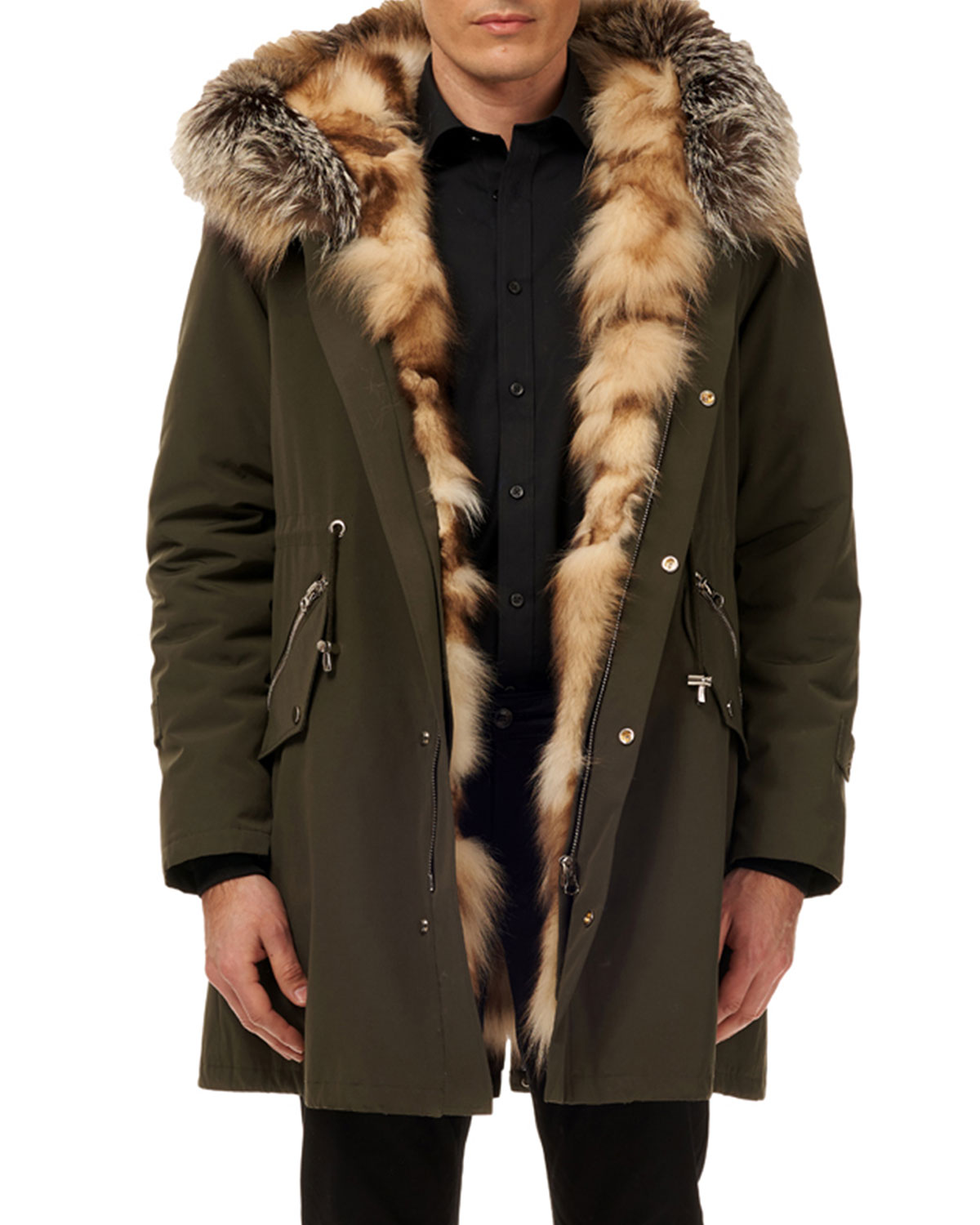 Mens Lined Parka