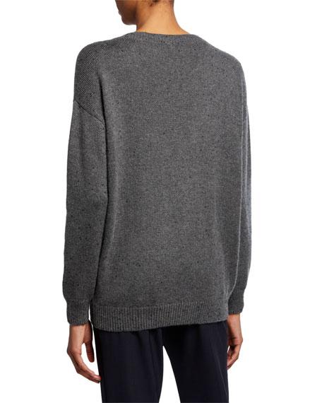 Brunello Cucinelli Cashmere Sequined V-Neck Sweater