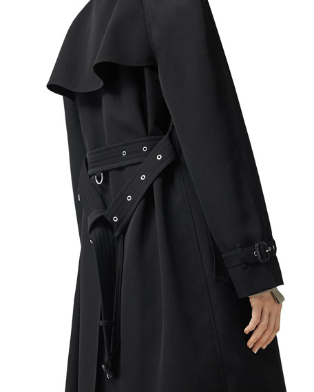 Burberry Failand Modular Wool Trench Coat with Removable Warmer