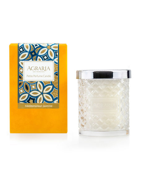 Image 1 of 2: 3.4 oz. Mediterranean Jasmine Crystal Cane Candle
