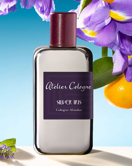 Atelier Cologne Silver Iris Cologne Absolue, 200 mL with Personalized Travel Spray, 1.0 oz./ 30 mL