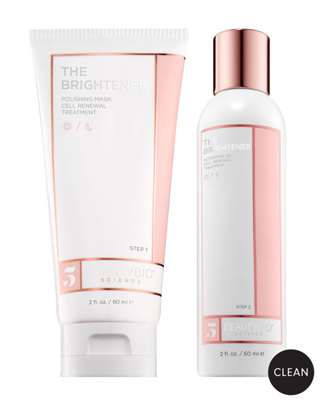 BeautyBio THE BRIGHTENER Two-Part Cell Renewal Treatment, 2 x 2.0 oz./ 60 mL