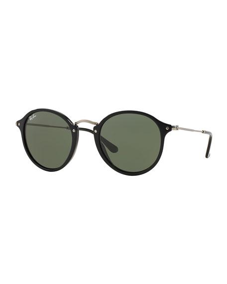Round Plastic/Metal Sunglasses