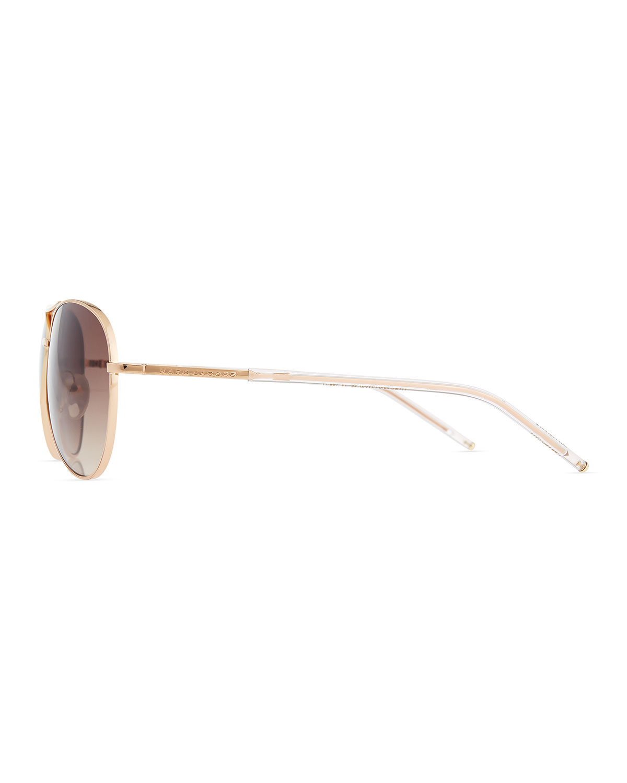 2d54ea7bb558 Marc Jacobs Metal Curved-Brow Aviator Sunglasses | Neiman Marcus