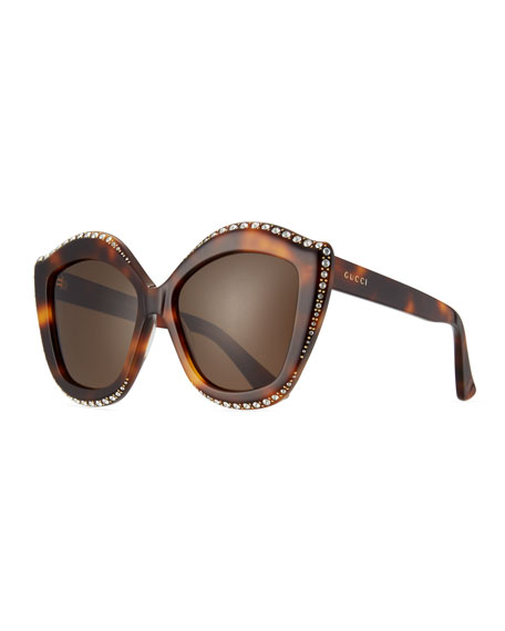 Swarovski® Squared Cat-Eye Sunglasses