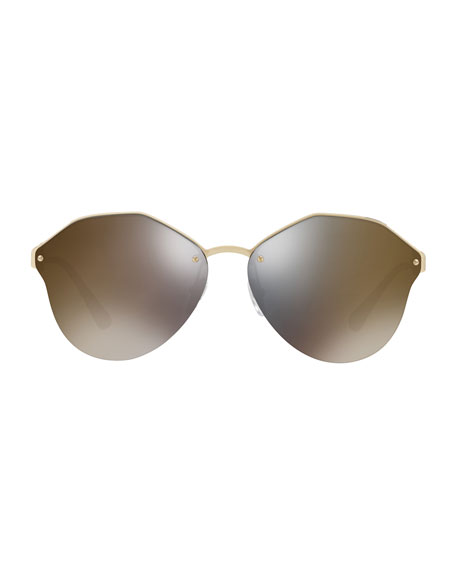 Image 3 of 5: Mirrored Round Sunglasses
