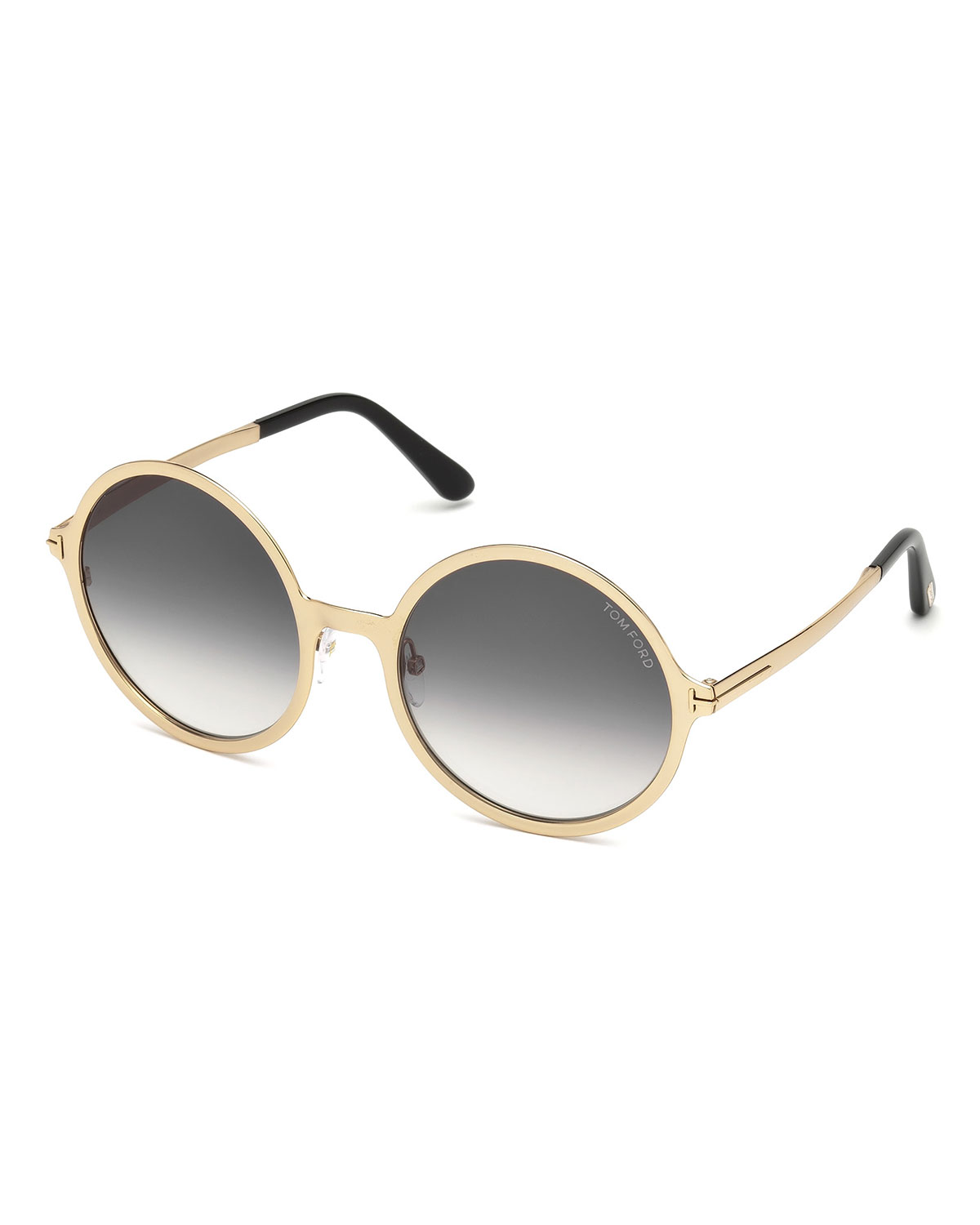 c855c3abf20 TOM FORD Round Gradient Metal Sunglasses