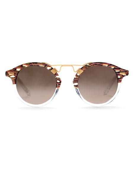 KREWE St. Louis Round Mirrored Sunglasses