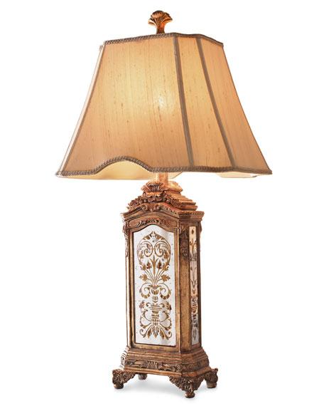 Hand-Painted Mirrored Lamp