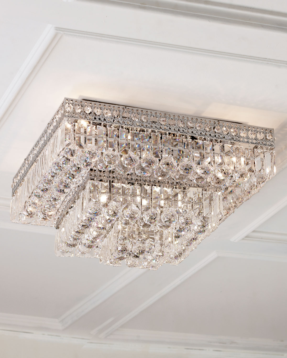 Neiman marcus lighting Flower Neiman Marcus Eightlight Crystal Flushmount Ceiling Fixture Neiman Marcus