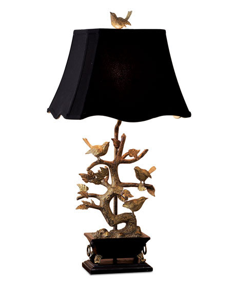 Image 4 of 4: Couture Lamps Brass Bird-on-Branch Lamp