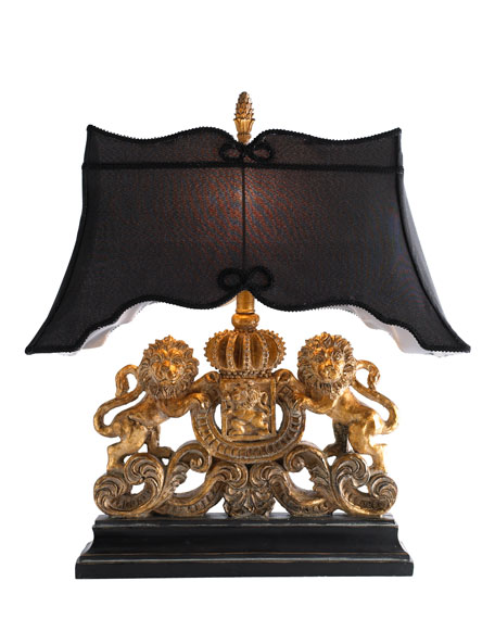Lion Crest Lamp