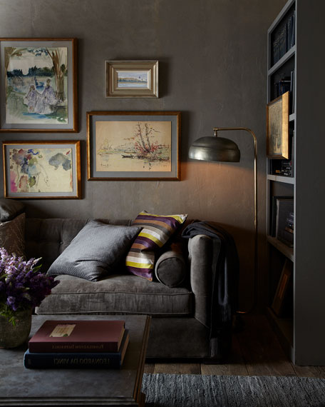 """Dusk Button-Tufted Sofa 92"""""""