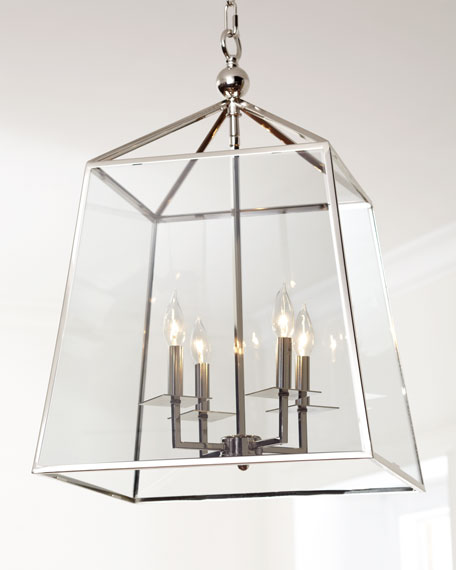 Image 1 of 4: Square 4-Light Glass Lantern